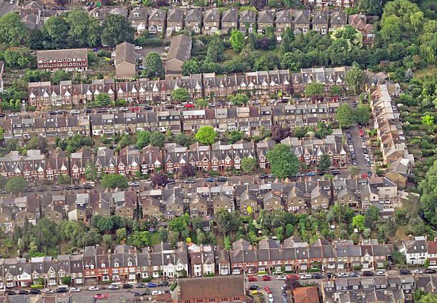 London Suburbs stock photo