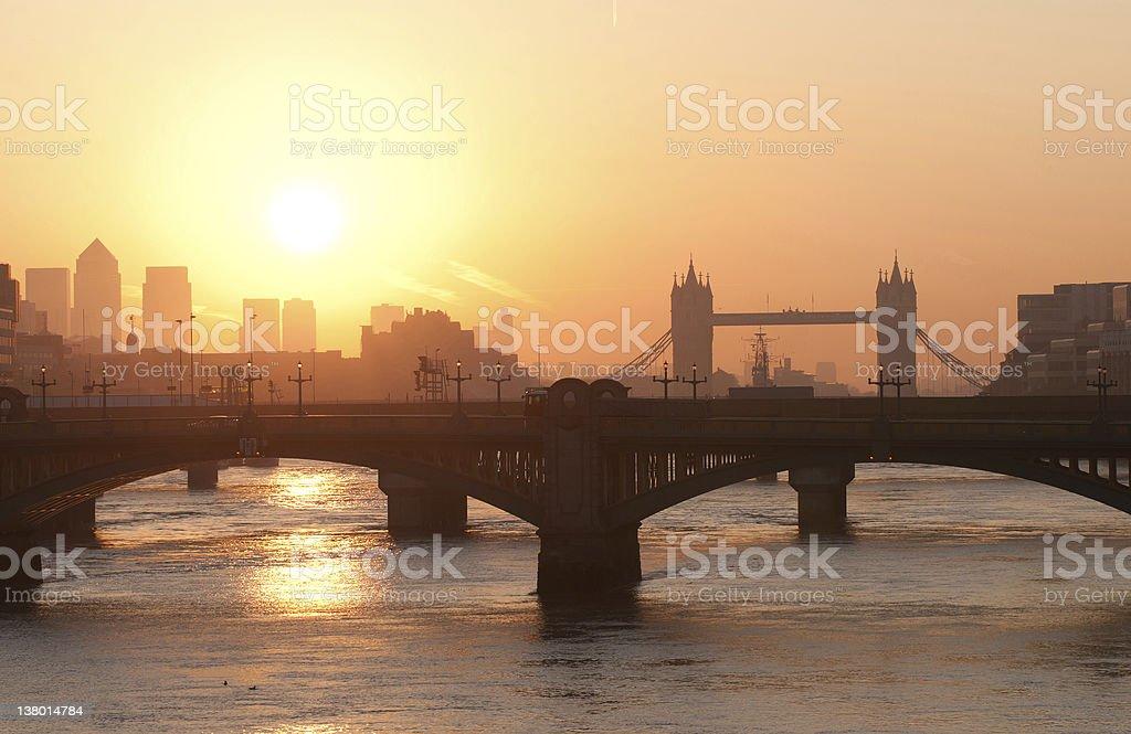 London sunrise royalty-free stock photo