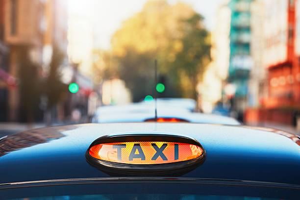 London taxi stock photo