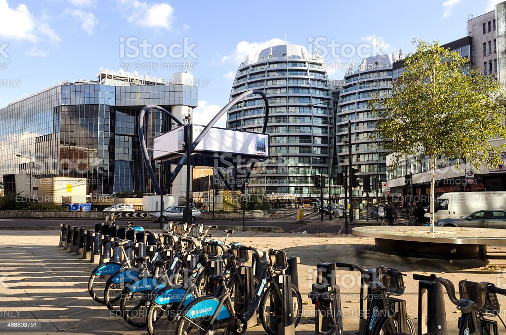 London Tech City, Old Street roundabout stock photo