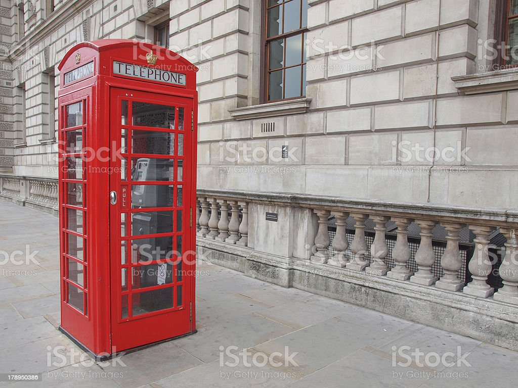 London telephone box stock photo