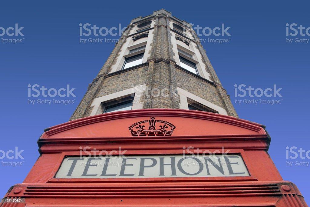 London telephone kiosk stock photo