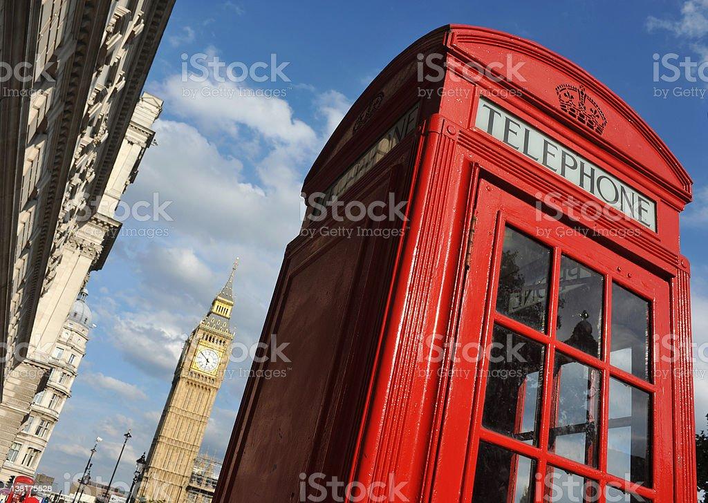 London Telephone royalty-free stock photo