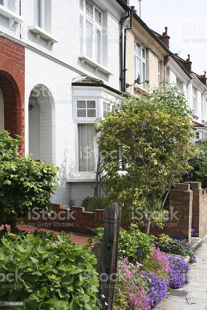 London terraced houses royalty-free stock photo
