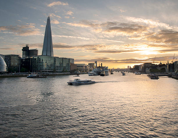 London Thames river stock photo