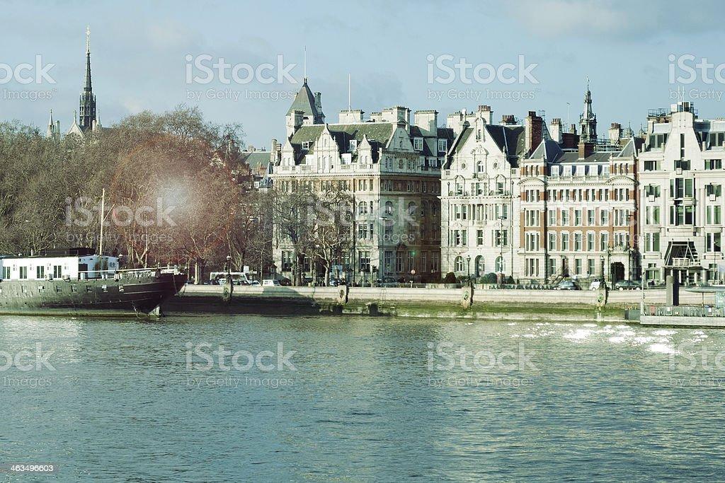 London, Thames Riverbank royalty-free stock photo