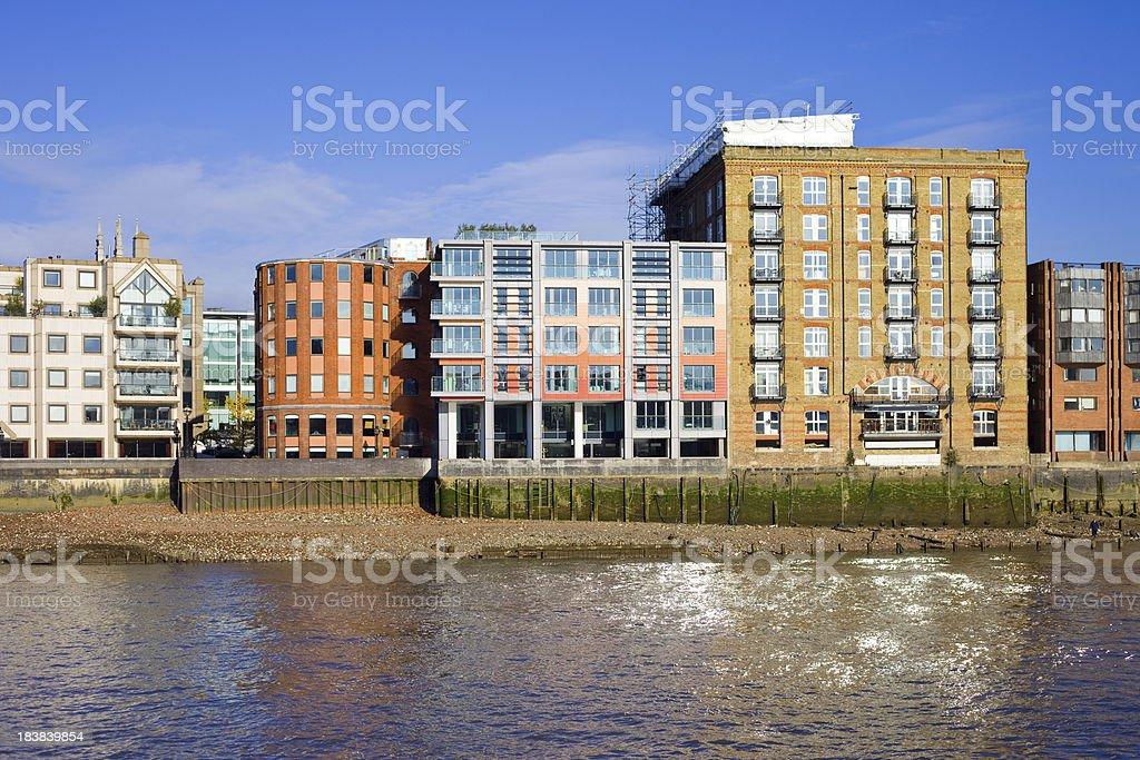 London, Thames Riverside Apartments stock photo