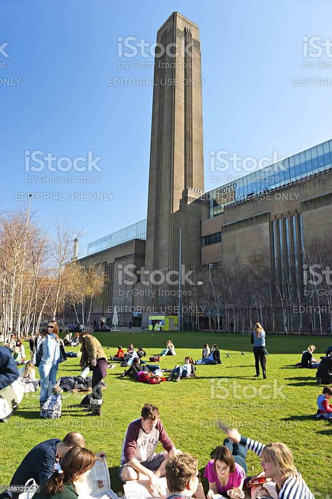 London, The Tate Modern gallery, UK. stock photo