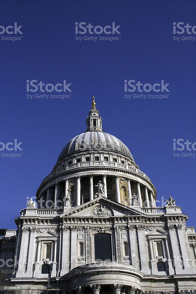 London tourist attraction: St Pauls Cathedral royalty-free stock photo