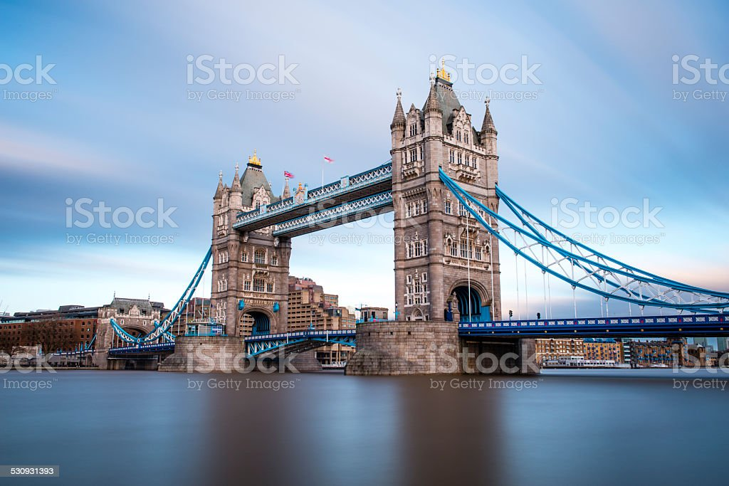London Tower Bridge across the River Thames stock photo