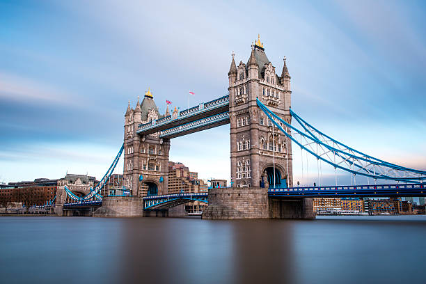 London Tower Bridge across the River Thames London Tower Bridge across the river Thames is the iconic landmark and most visited place in London, England, UK.  bascule bridge stock pictures, royalty-free photos & images