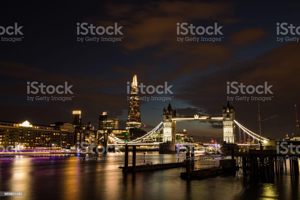Londen Tower Bridge en de Scherf - Royalty-free Architectuur Stockfoto