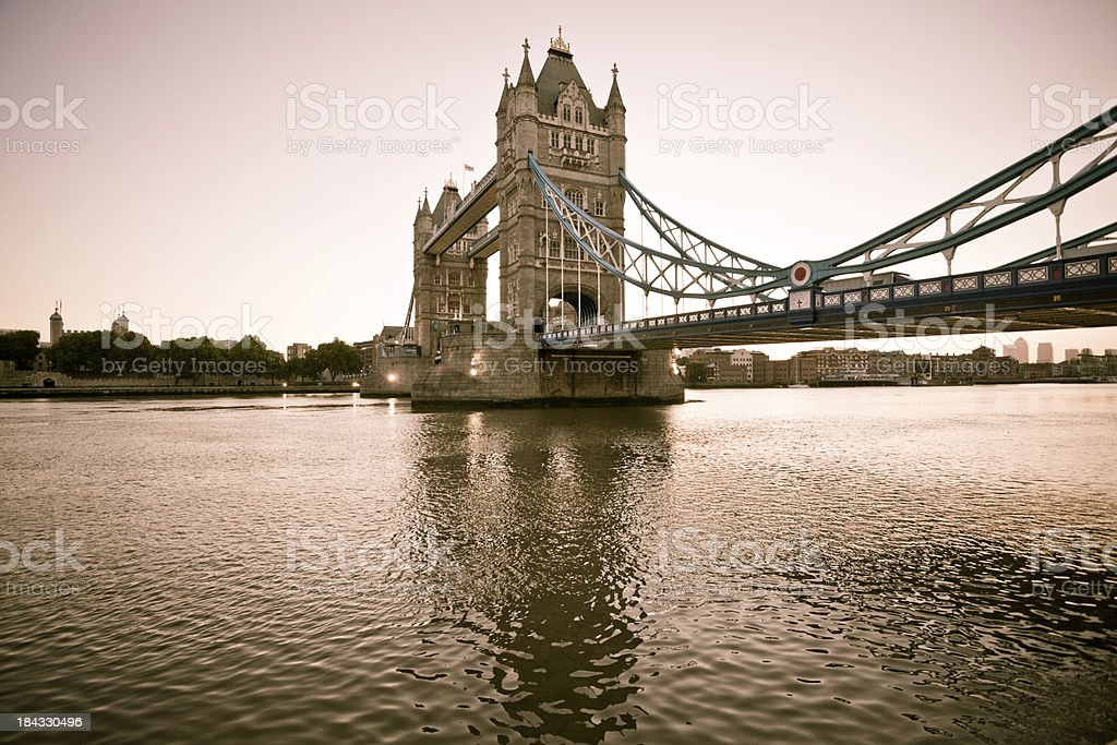 London Tower Bridge at Dawn royalty-free stock photo
