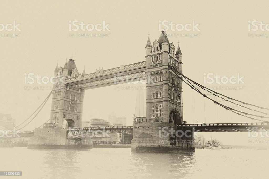 London Tower Bridge royalty-free stock photo