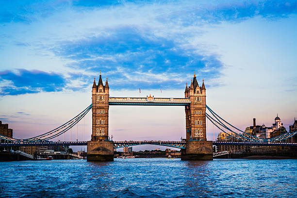 London Tower Bridge London Tower Bridge view from the river. tower bridge stock pictures, royalty-free photos & images