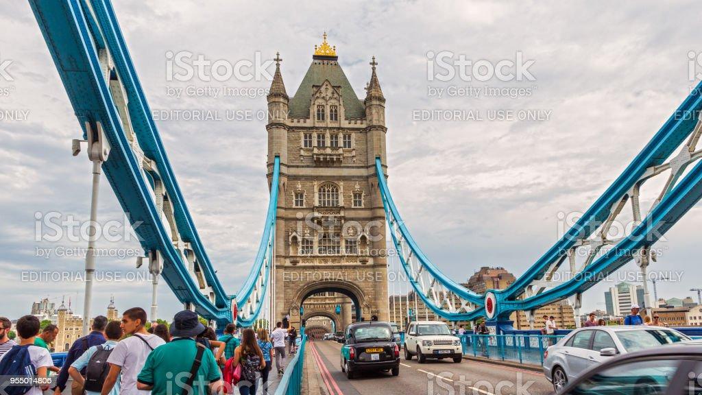 London Tower Bridge stock photo