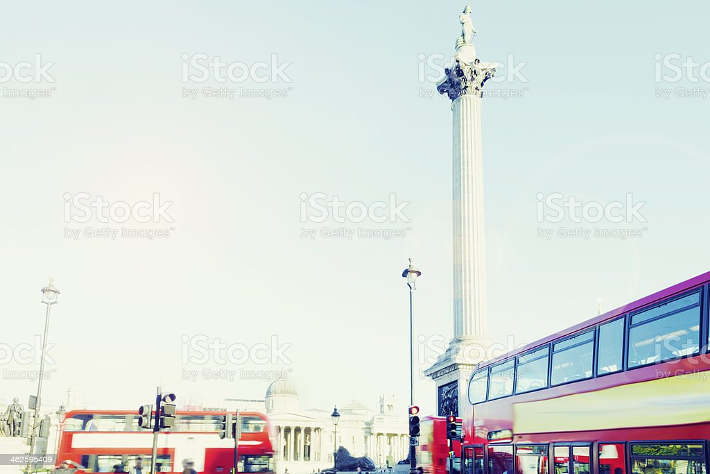 London, Trafalgar Square, Nelson's Column stock photo