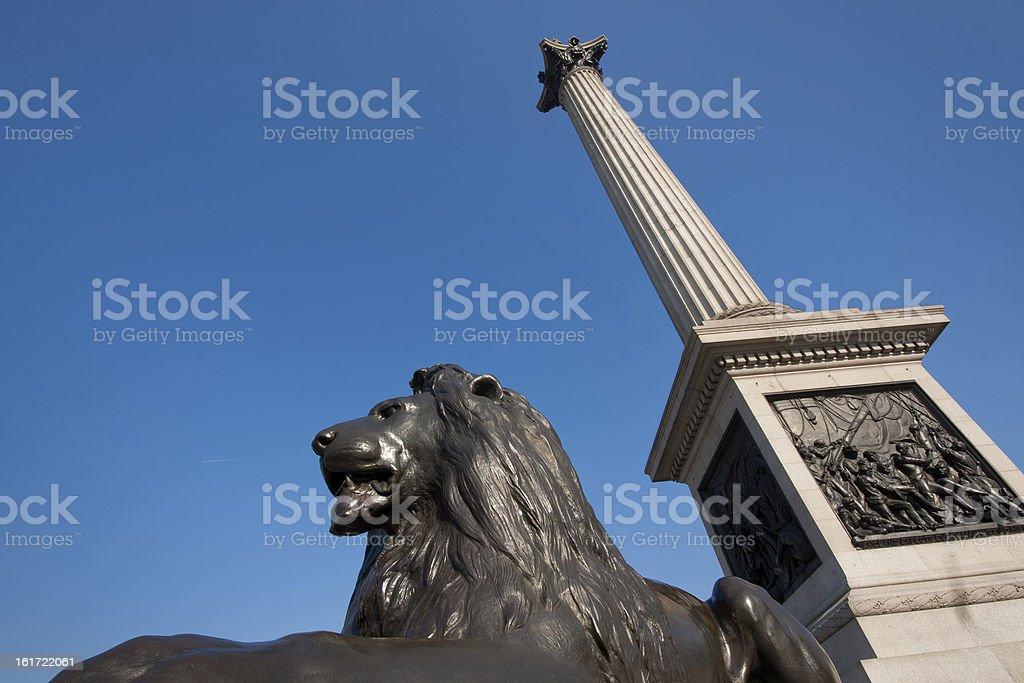 London, Trafalgar square royalty-free stock photo