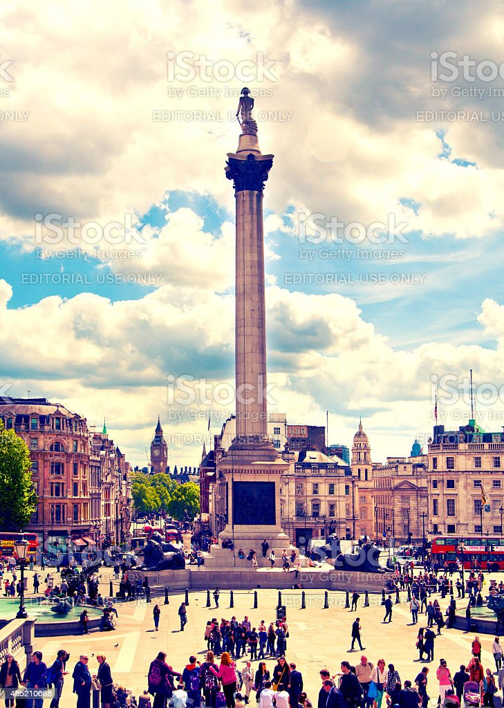 London, Trafalgar square stock photo