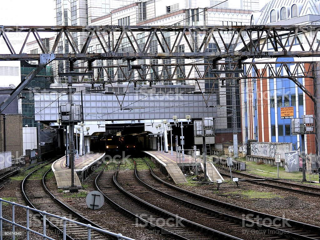 London Train Station royalty-free stock photo