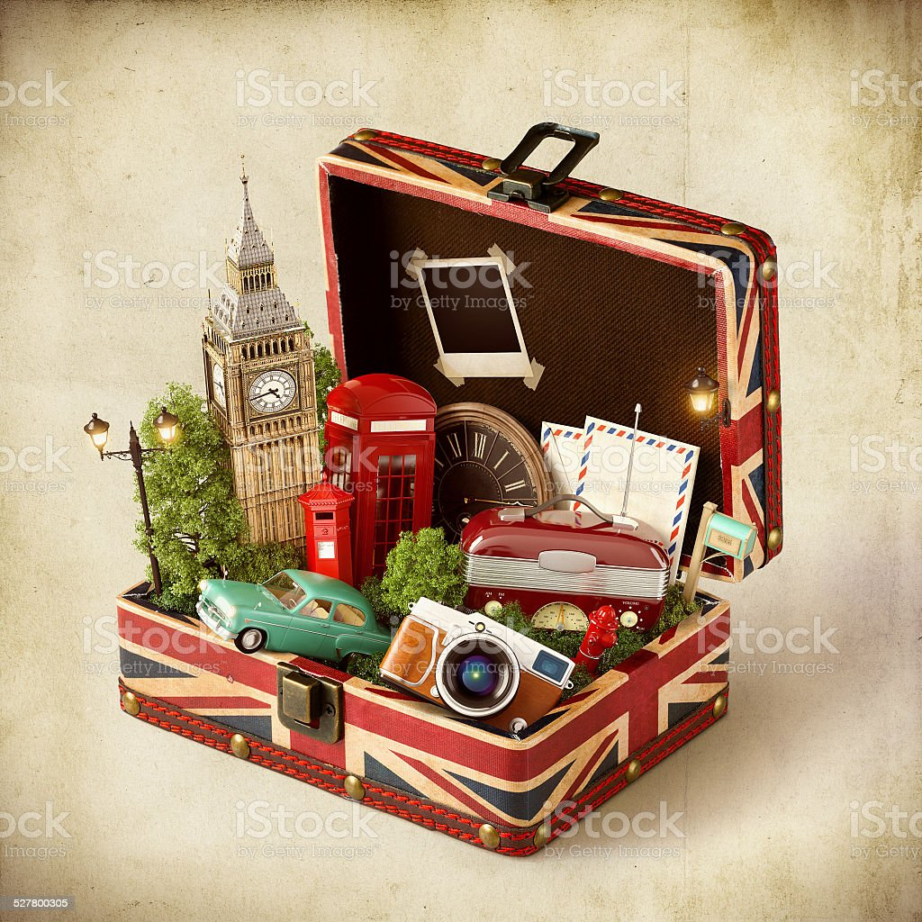 London traveling concept stock photo