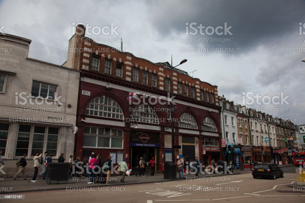 London Tube Station Camden Town royalty-free stock photo
