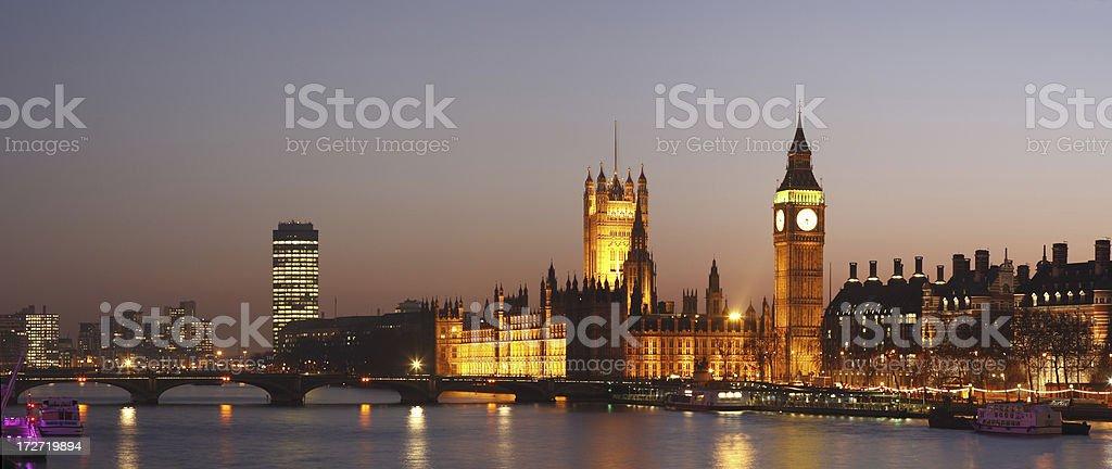 London Twilight royalty-free stock photo