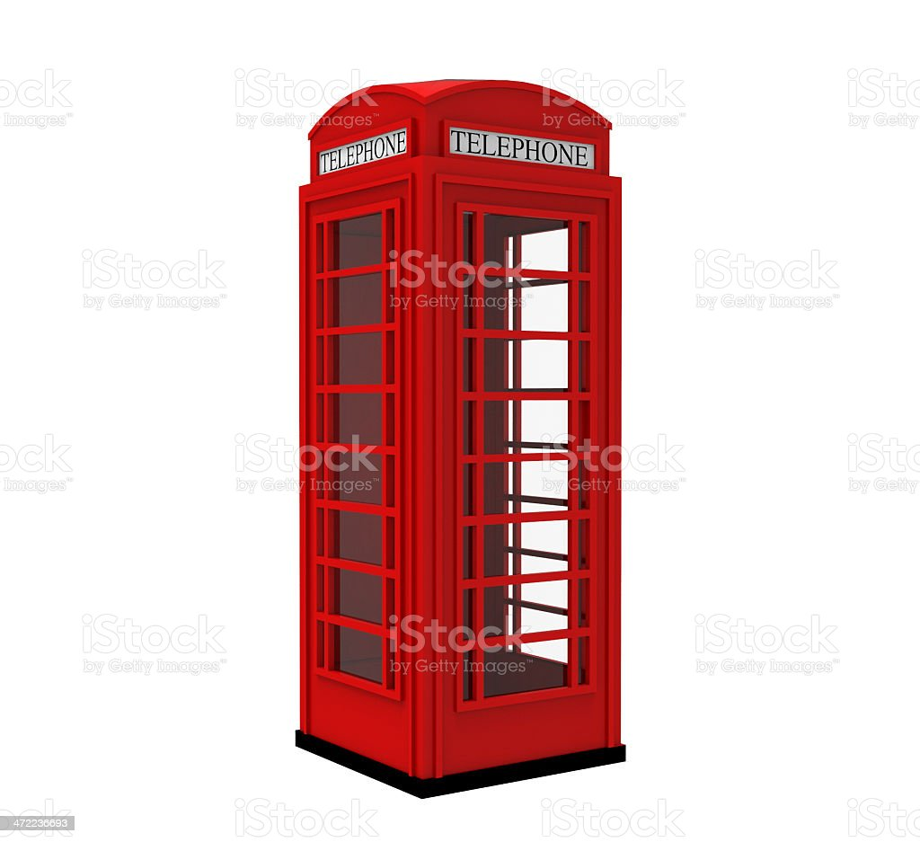 London UK Red Telephone Box stock photo