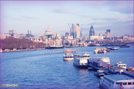 London UK. Retro film effect