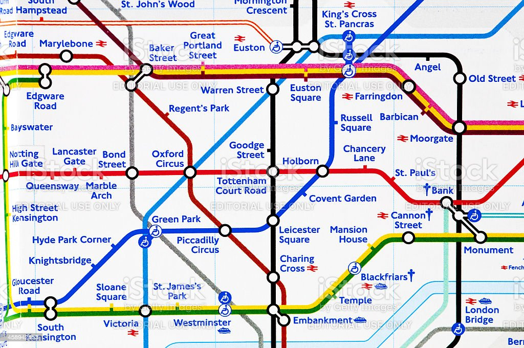 london underground map close up on zone 1 royalty free stock photo
