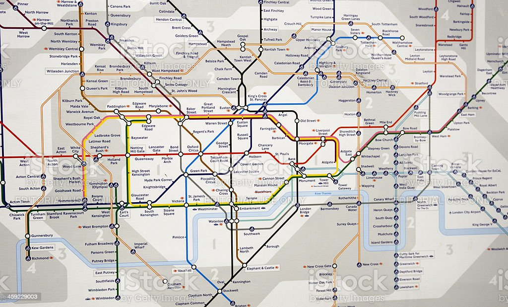 London England Subway Map.London Underground Map Subway Metro Station Stock Photo Download