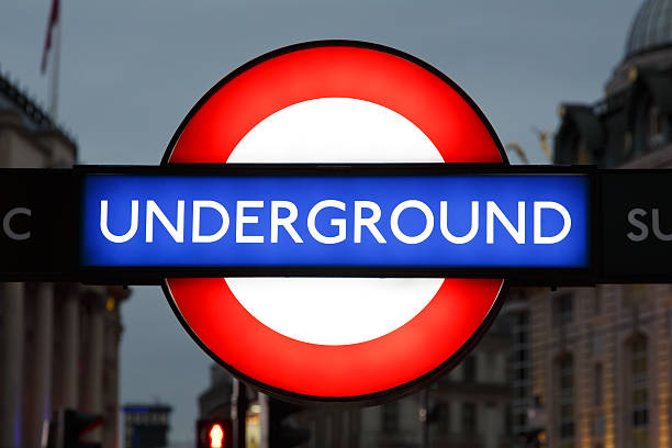 london underground sign - tube stock pictures, royalty-free photos & images
