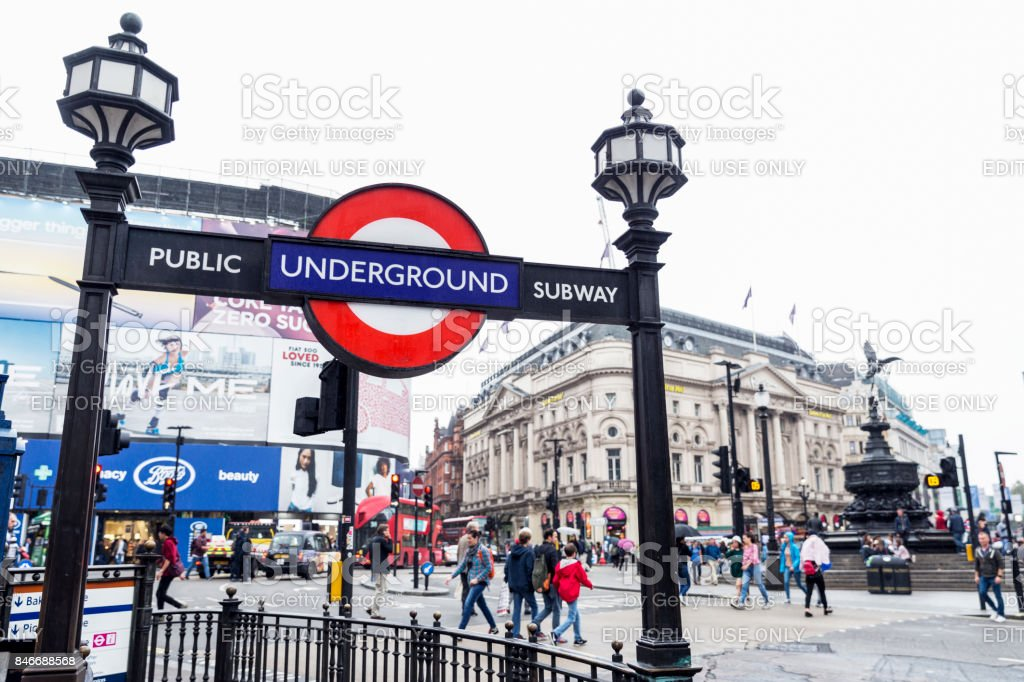 London Underground station at Piccadilly Circus stock photo
