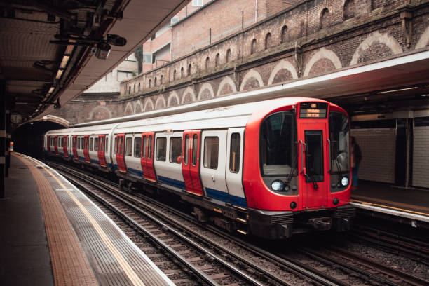 London Underground train An underground train in London tube stock pictures, royalty-free photos & images