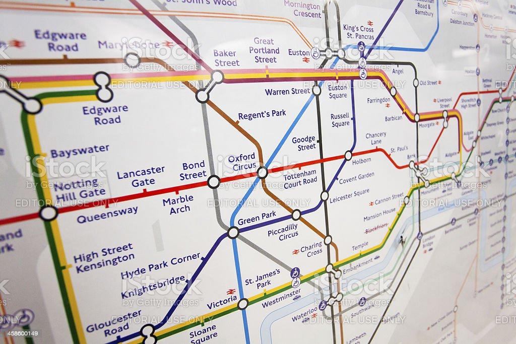 london underground tube map royalty free stock photo