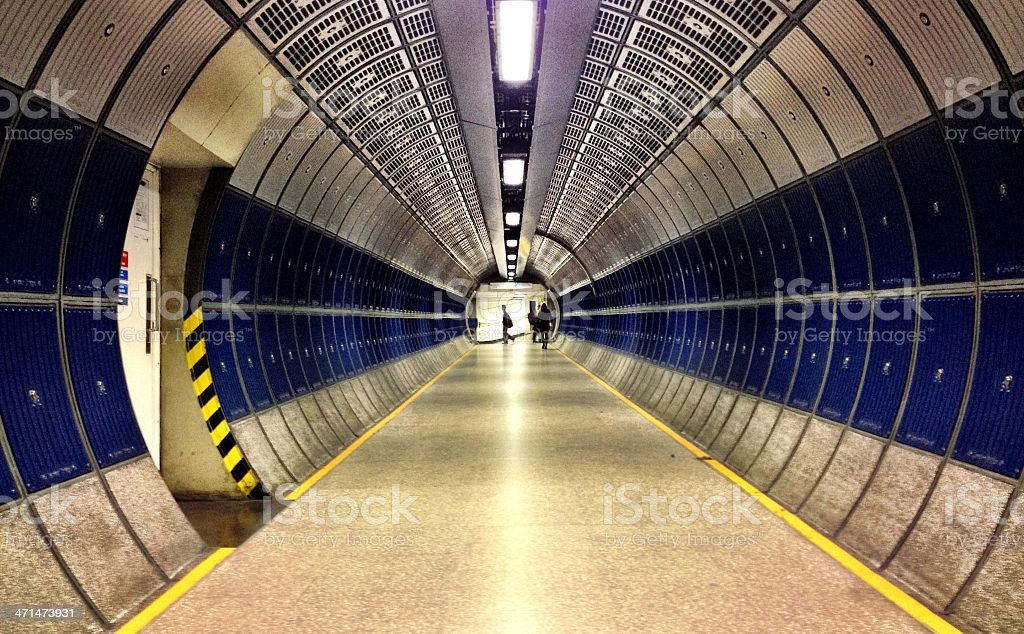London Underground tunnel royalty-free stock photo