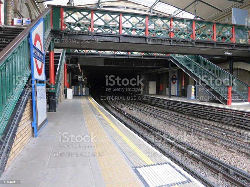 London underground West Brompton station. London underground has 11...
