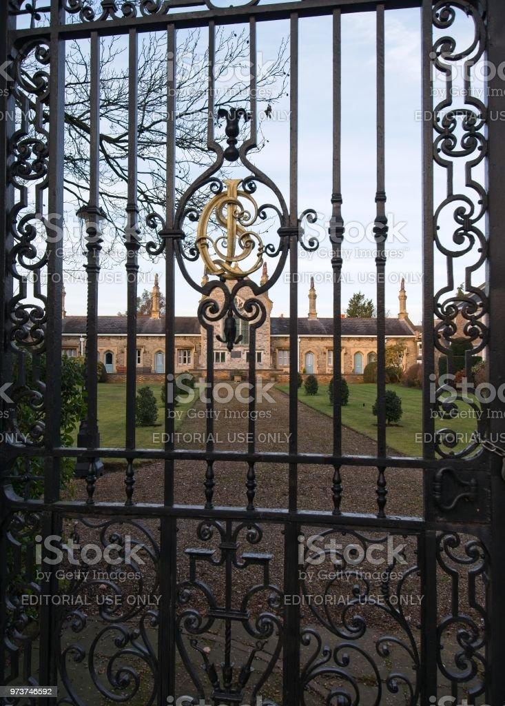 London, United Kingdom - February 16 2018: Leathersellers' Close (Leathersellers' Barnet Almshouses) stock photo