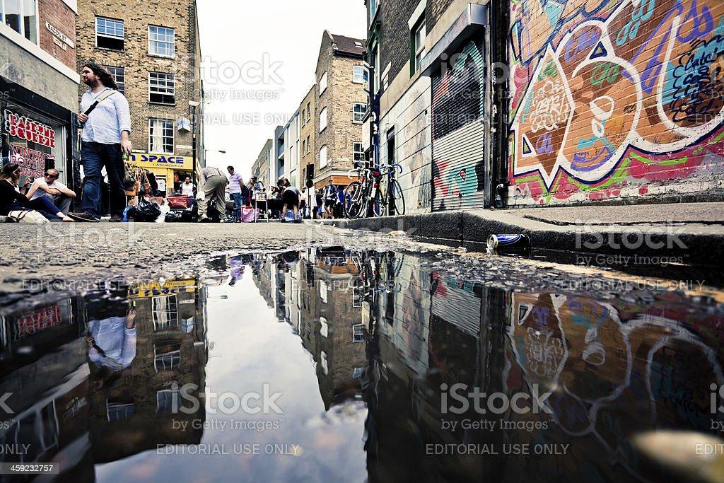 London Urban Scene and Graffiti stock photo