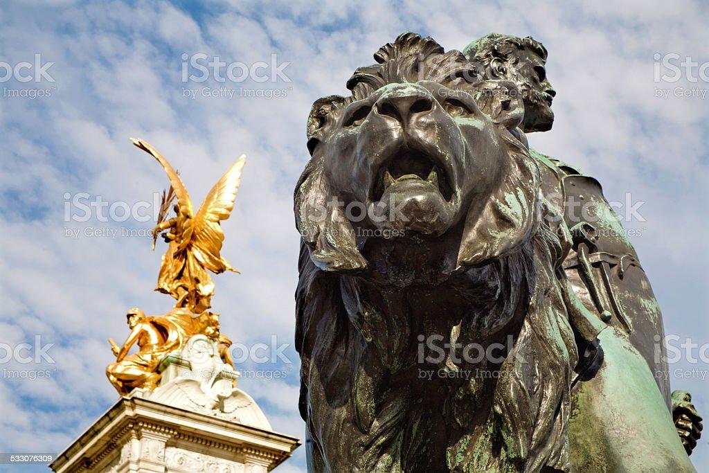 London - Victoria memorial by Buckingham palace stock photo