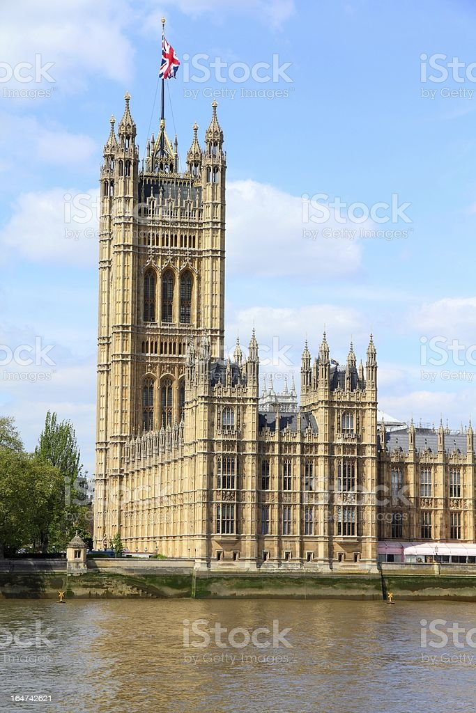 London - Victoria Tower royalty-free stock photo