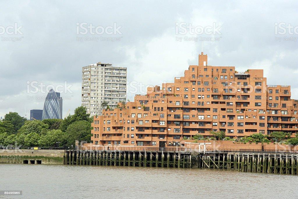 Londyn nabrzeżu zbiór zdjęć royalty-free