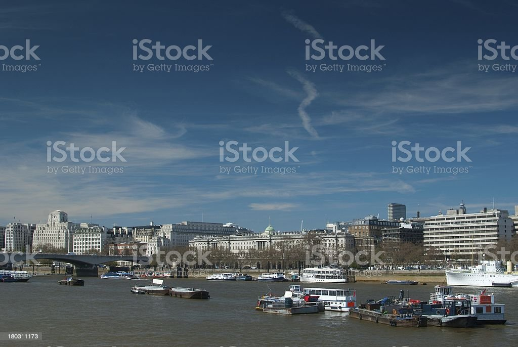 London, Waterloo bridge royalty-free stock photo