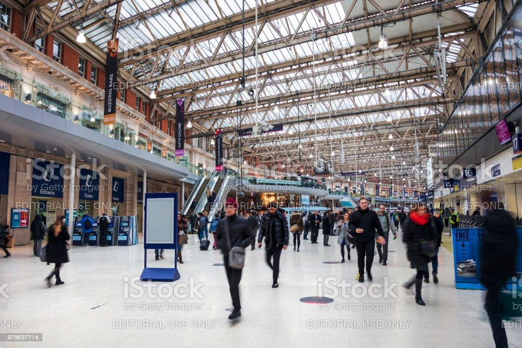 London Waterloo station stock photo