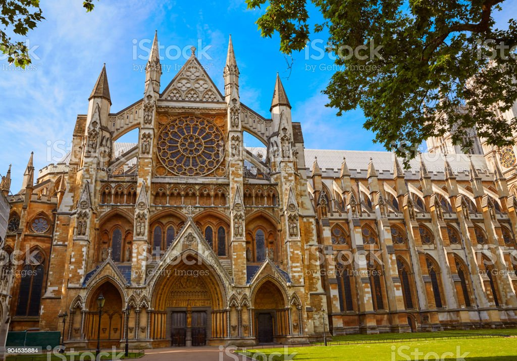 London Westminster Abbey St Margaret Church stock photo