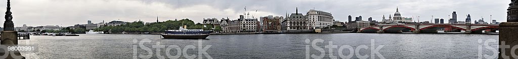 London wide panorama including the river Thames royalty-free stock photo