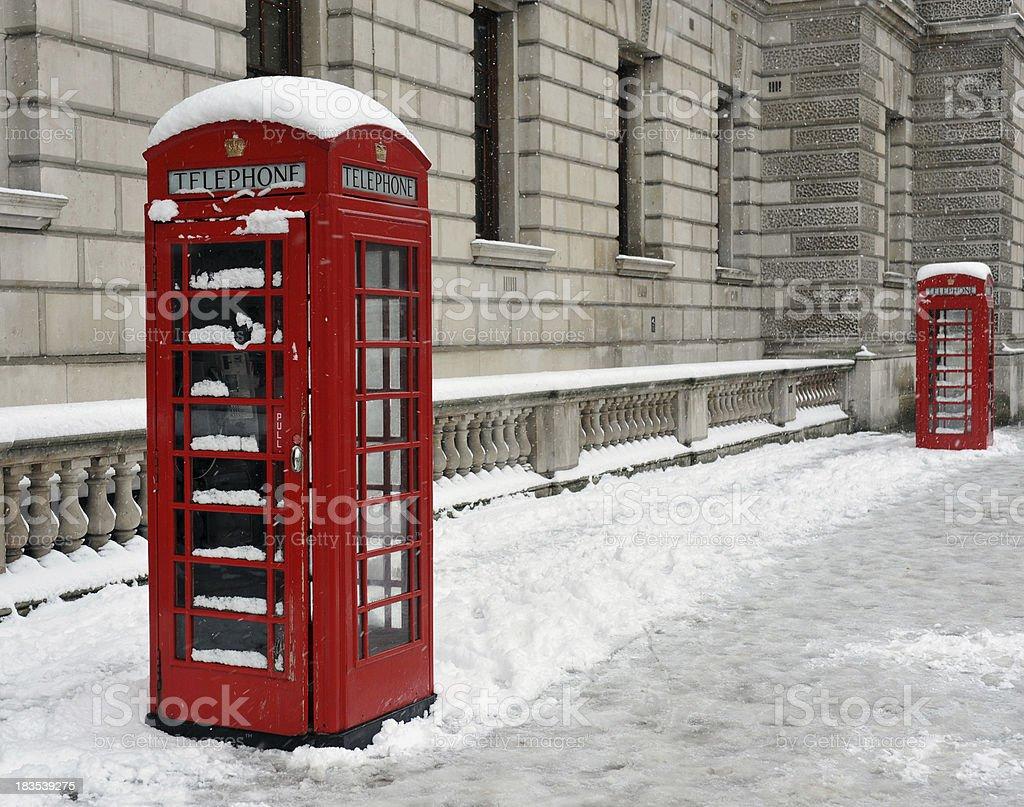 London winter stock photo