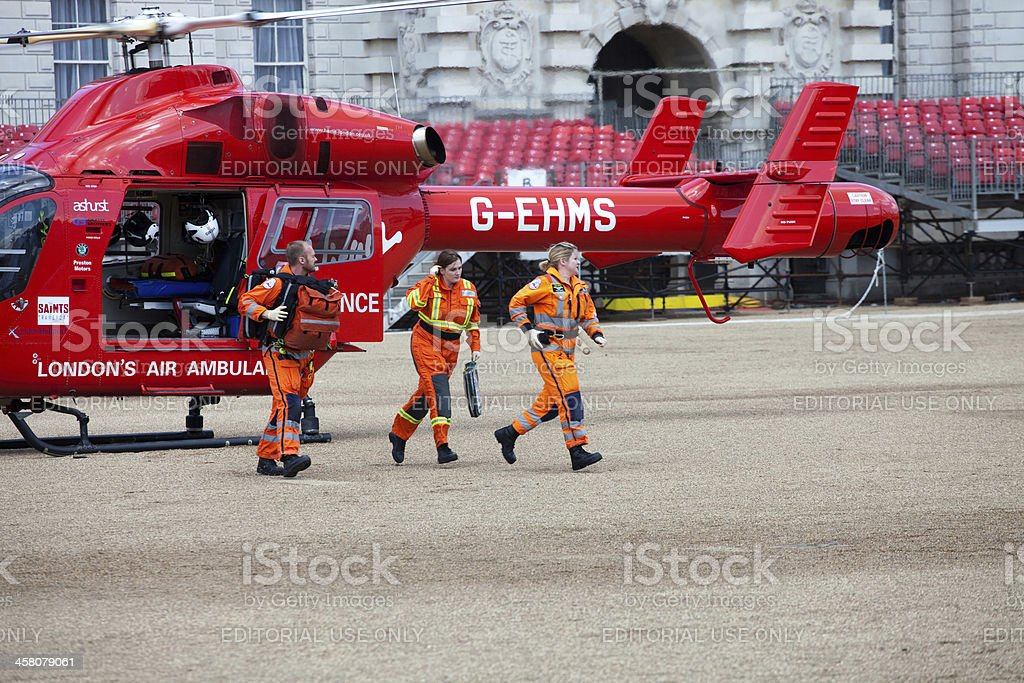 London's Air Ambulance Helicopter team stock photo