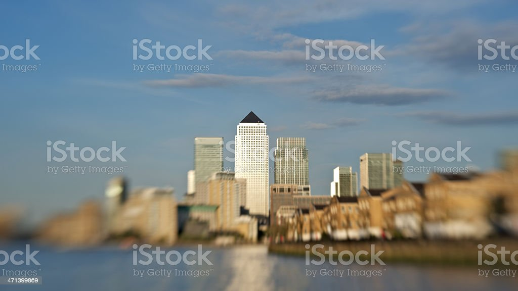 London's Canary Wharf royalty-free stock photo