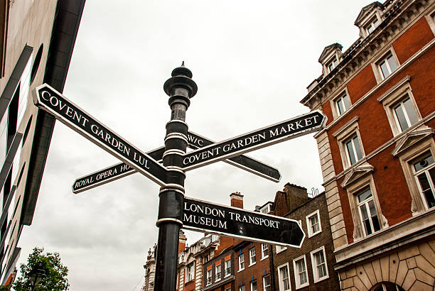 London's direction sign stock photo